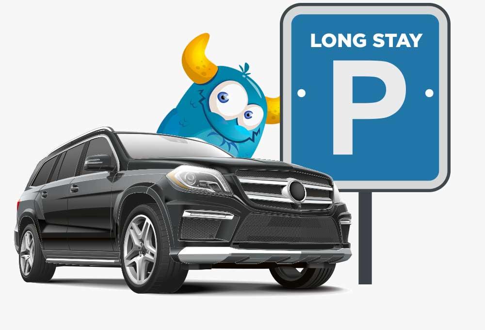 long stay car parking at UK airports